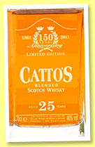 Catto's 25 yo (40%, OB, blend, decanter, 2,400 bottles, +/-2011)