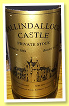 Cragganmore 1969/1990 'Private Stock' (43%, Ballindalloch Castle, 75cl)