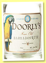 Doorly's 3 yo 'White' (40%, OB, blend, Barbados, +/-2015)