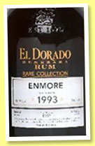 El Dorado Enmore 1993/2015 (56.5%, OB, Guyana, Rare Collection, bourbon barrels)