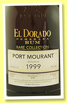 El Dorado Port Mourant 1999/2015 (61.4%, OB, Rare Collection, bourbon barrels)