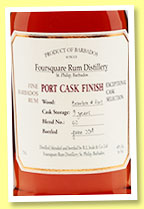 Foursquare 9 yo 'Port Cask Finish' (40%, OB, Barbados, 2014)