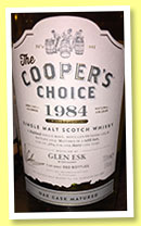 Glen Esk 30 yo 1984/2015 (51%, The Cooper's Choice, refill butt, cask #3884, 300 bottles)