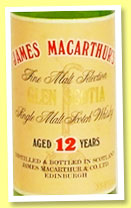 Glen Scotia 12 yo (55.8%, James MacArthur, 75cl, +/-1986)