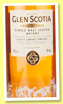 Glen Scotia 'Double Cask' (46%, OB, +/-2015)