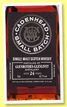 Glenrothes 24 yo 1990/2015 (55.7%, Cadenhead, Small Batch, 966 bottles)