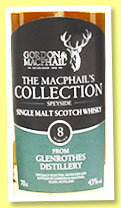 Glenrothes 8 yo (43%, Gordon & MacPhail, The MacPhail's Collection, +/-2015)