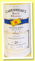 Invergordon 25 yo 1991/2016 (57.7%, Cadenhead, World Whiskies, bourbon hogshead, 192 bottles)
