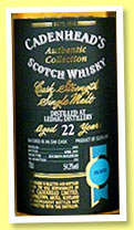 Ledaig 22 yo 1993/2015 (54.3%, Cadenhead, Authentic Collection, bourbon hogshead, 252 bottles)