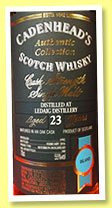 Ledaig 23 yo 1992/2016 (55%, Cadenhead, Authentic Collection, bourbon hogshead, 180 bottles)