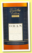 Oban 1999/2014 'Distiller's Edition' (43%, OB, Montilla fino finish)