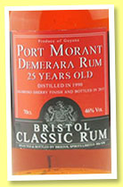 Port Morant 25 yo 1990/2915 (46%, Bristol Spirits, oloroso sherry cask finish)