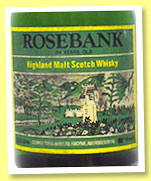 Rosebank 34 yo (88°proof, George Strachan, 26 2/3 fl. Ozs, early 1970s)