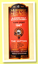Siar Port 18 yo 1997/2015 (46%, Murray McDavid, blended malt, 685 bottles)