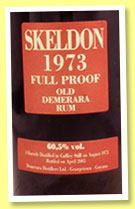 Skeldon 32 yo 1973/2005 (60.5%, Velier, 4 barrels, 544 bottles)