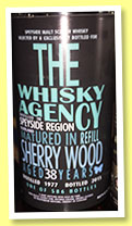 Speyside Region 38 yo 1977/2015 (46.8%, The Whisky Agency, refill sherry, 586 bottles)