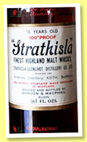 Strathisla 15 yo (100° proof, Gordon & MacPhail Licensed Bottling, +/- 1970)