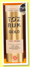 Toz 'Gold' (40%, OB, St. Lucia Distillers, +/-2015)