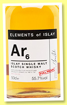 Ar6 (55.7%, Elements of Islay, bourbon, 2016)