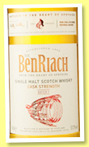 Benriach 'Cask Strength' (57.2%, OB, Batch 1, 2016)
