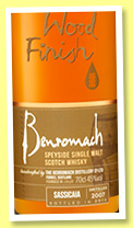 Benromach 2007/2016 'Sassicaia Wood Finish' (45%, OB, 3500 bottles)