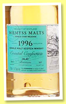 Bowmore 1996/2015 'Coastal Confection' (54.7%, Wemyss Malts, hogshead, 269 bottles)