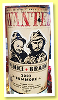 Bowmore 2003 (52.4%, Jack Wiebers, Wanted, PInki + Brain, 293 bottles, +/-2015)