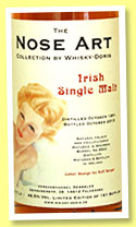 Irish Single Malt 1991/2015 (48.5%, Whisky-Doris, Nose Art, bourbon barrel, cask #8533, 161 bottles)