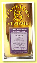 Linlithgow 26 yo 1982/2009 (61.2%, Signatory Vintage, wine treated butt, cask #2200, 225 bottles)