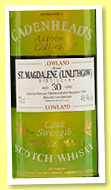 St Magdalene (Linlithgow) 30 yo 1964/1994 (48.5%, Cadenhead, Authentic Collection)