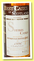 Teaninich 8 yo 1996/2005 (43%, Jean Boyer, Best Casks of Scotland, sherry)
