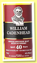 William Cadenhead Speyside 40 yo (40.2%, Cadenhead, 2016)