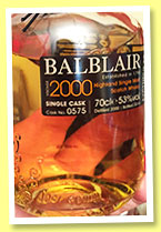 Balblair 2000/2014 (53%, OB, exclusive to Switzerland, cask #0575)