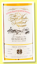 Benriach 26 yo 1990/2016 (50.2%, The Single Malts of Scotland, cask #030143, 152 bottles)