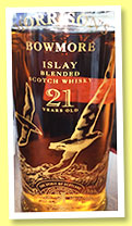 Bowmore 21 yo '500 Years of Scotch Whisky' (43%, OB, Islay blended Scotch whisky, 6000 bottles, 1994)