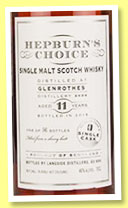Glenrothes 11 yo 2004/2015 (46%, Hepburn's Choice, sherry, 341 bottles)