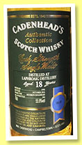 Laphroaig 18 yo 1998/2016 (55.9%, Cadenhead, Authentic Collection, bourbon hogshead, 204 bottles)