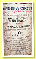 Laphroaig 19 yo 1995/2015 (46%, High Spirits, Life is a circus)