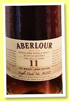 Aberlour 11 yo (48.7%, OB, The Whisky Lodge Edition, first fill oloroso butt, cask #96352, 610 bottles)
