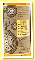 Family-Owned Distillery 15 yo (51.3%, The Whisky Exchange, Edition Time I, Speyside, 271 bottles)
