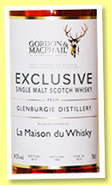 Glenburgie 1984/2014 (54.5%, Gordon & MacPhail, Exclusive for La Maison du Whisky, refill bourbon barrel, cask #8510)