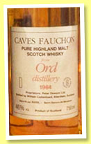 Ord 1964 (46%, Cadenhead for Caves Fauchon, 75cl, mid 1980s?)