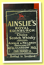 Ainslie's Royal Edinburgh (40%, OB, for Belgium, blended Scotch, +/-1970)