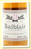 Balblair 21 yo 1964/1985 (57.80%, Intertrade)