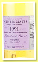 Blair Athol 1991/2015 'Nuts about Pears!' (46%, Wemyss Malts, barrel, 312 bottles)