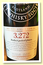 Bowmore 15 yo 2000 (54.5%, Scotch Malt Whisky Society, #3.272, 'Perfect Potted Plants', first fill barrel, 222 bottles)