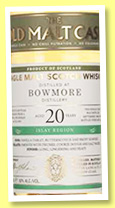 Bowmore 20 yo 1998/2017 (50%, Hunter Laing, Old Malt Cask, cask # 13301, 275 bottles)