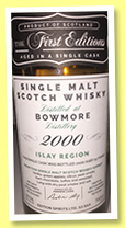 Bowmore 2000/2016 (59.5%, The First Editions, refill hogshead, cask #HL12312, 230 bottles)