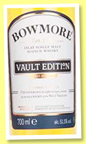 Bowmore 'Vault Edition' (51.5%, OB, First Release, 2016)