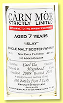 Caol Ila 7 yo 2009/2016 (46%, Càrn Mor, Exclusive  to The Whisky Exchange, hogshead, 850 bottles)